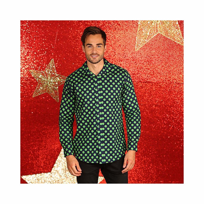 Overhemd Kerst.Fout Kerst Overhemd Groen Spruitjes