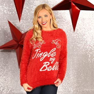 Kersttrui V En D.Dames Kersttrui Jingle My Bells De Bedrukker Nl